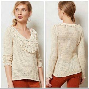 NWT Anthropologie Sweater Crochet Boho